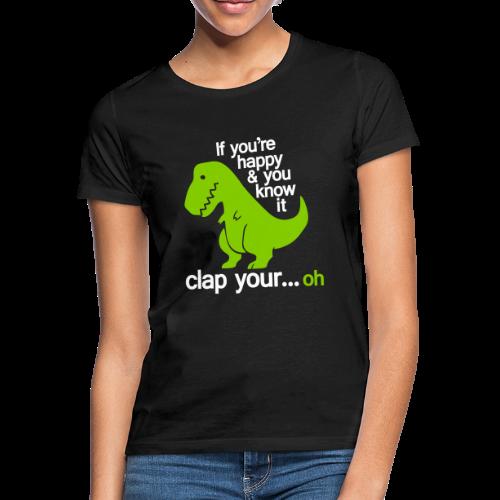 Happy T-Rex - T-shirt dam