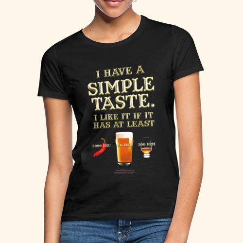 Whisky, Chili, Bier - Frauen T-Shirt