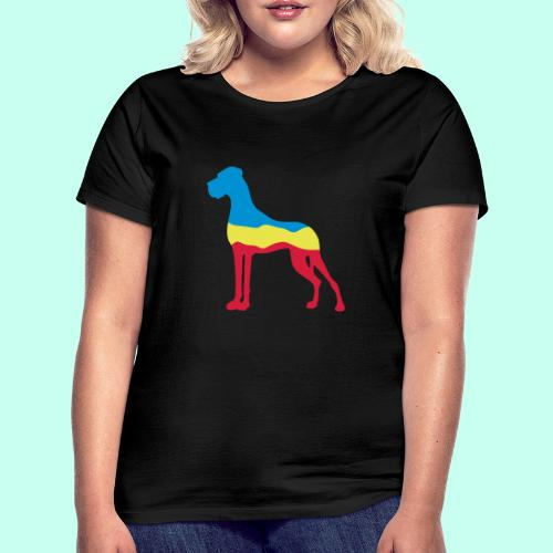 Flaggen Dogge - Frauen T-Shirt