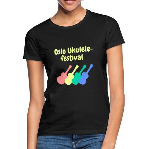Fire ukuleler - T-skjorte for kvinner