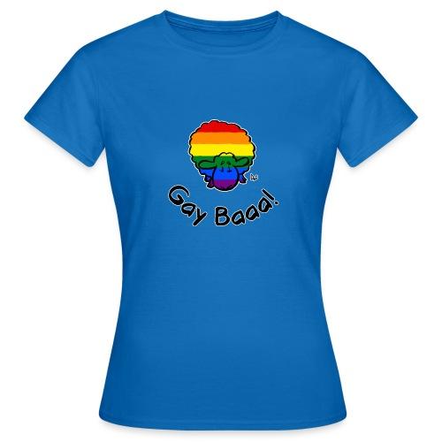 Homosexuell Baaa! Rainbow Pride Sheep (schwarze Ausgabe) - Frauen T-Shirt