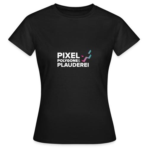 Pixel Polygone Plauderei Logo Weiß - Frauen T-Shirt
