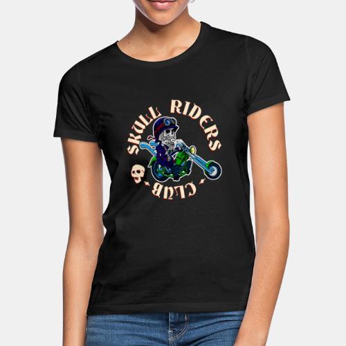 riders skull club dark background 2 - Camiseta mujer