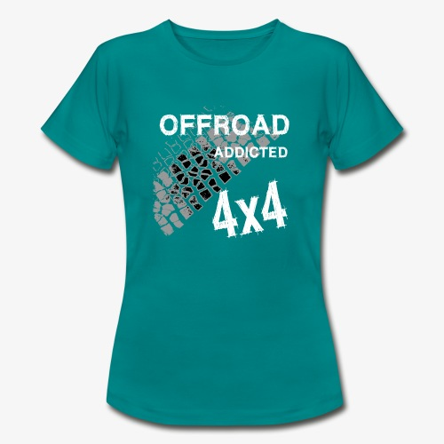 OFFroadAddictedWhite - Frauen T-Shirt