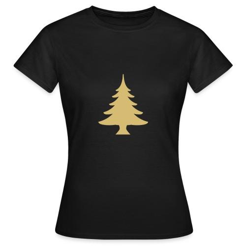 Weihnachtsbaum Christmas Tree Gold - T-skjorte for kvinner
