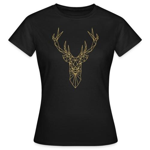 Hirschkopf Triangel-Design gold - Frauen T-Shirt