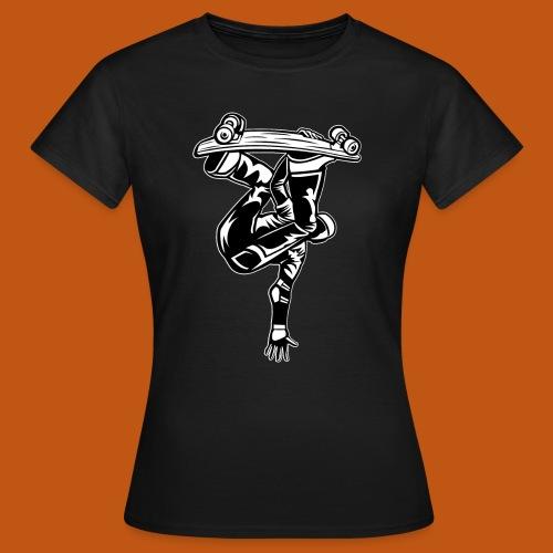 Skater / Skateboarder 03_schwarz weiß - Frauen T-Shirt