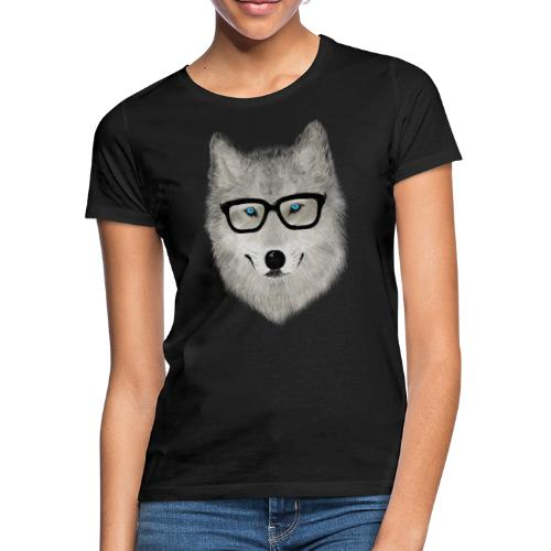 wild animal with glasses V02 - Camiseta mujer