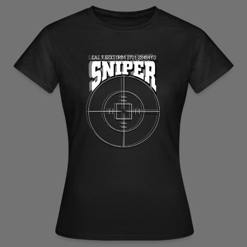 Sniper (białe) - Koszulka damska