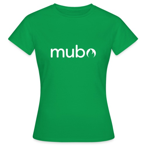 mubo logo Word White - Women's T-Shirt