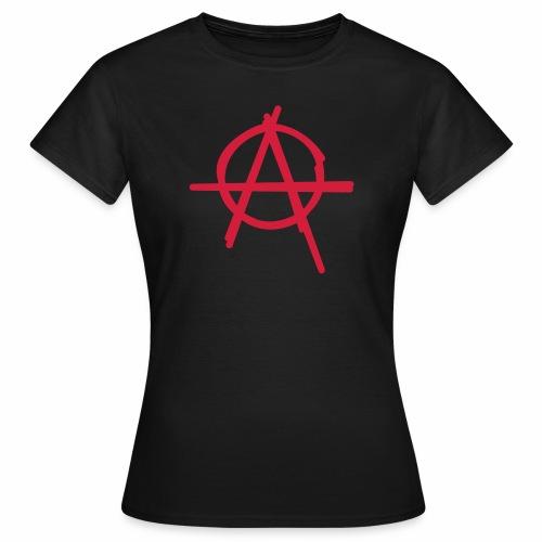 Anarchie Symbol Anarchy Zeichen Punk Logo A Icon - Frauen T-Shirt