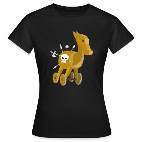 Trojanisches Pferd nicht ganz so ernsthaft - Frauen T-Shirt