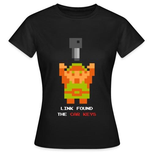 link carkeys white text - T-shirt dam