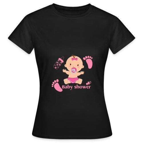 Baby shower pour un bébé fille - T-shirt Femme