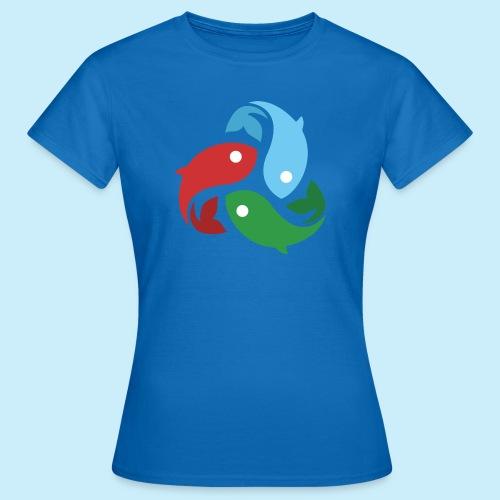 De fiskede fisk - Dame-T-shirt