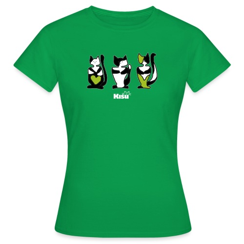 vihreä rivi mustalle - Naisten t-paita
