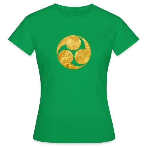 Kobayakawa Mon Japanese clan gold on black - Women's T-Shirt