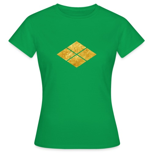 Takeda kamon Japanese samurai clan faux gold - Women's T-Shirt