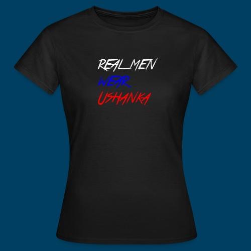 real men wear ushanka - T-shirt dam