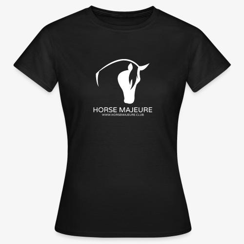 Horse Majeure Logo / Valkoinen - Naisten t-paita
