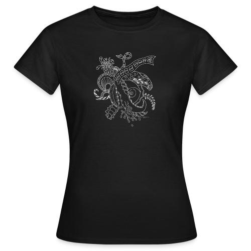 Fantasia valkoinen scribblesirii - Naisten t-paita