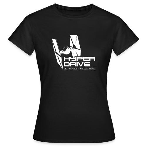 Hyperdrive, logo Galactique - T-shirt Femme