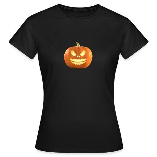 Halloween Pumpkin scary face 7 - T-skjorte for kvinner