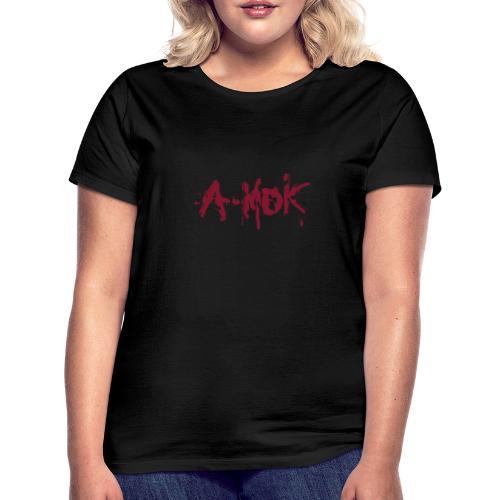 A-MOK Splash Logo Rot - Frauen T-Shirt