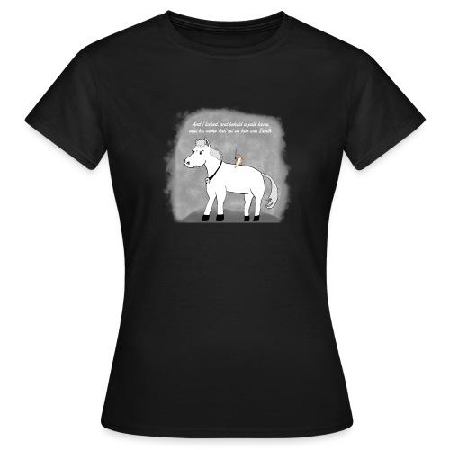 pale white horse. his rider death - T-skjorte for kvinner