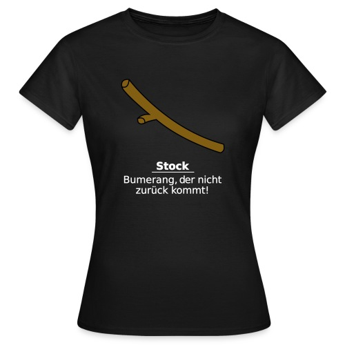 Stock Bumerang - Frauen T-Shirt