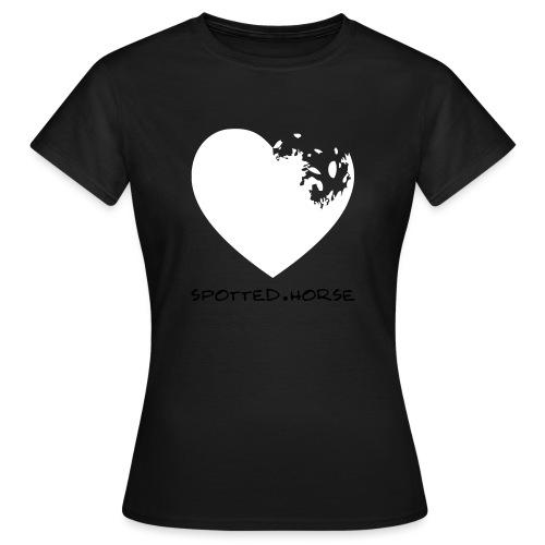 Cuore Appaloosa (bianco/rosso) - Maglietta da donna