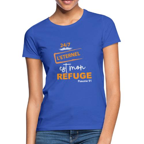 24 7 eternel mon refuge orange blanc - T-shirt Femme