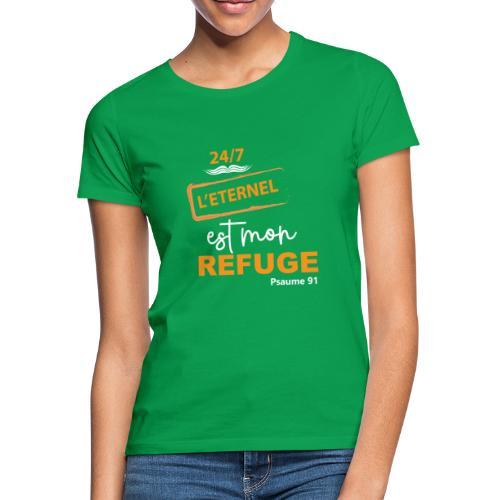 24 7 eternel mon refuge orange blanc - T-shirt Femme