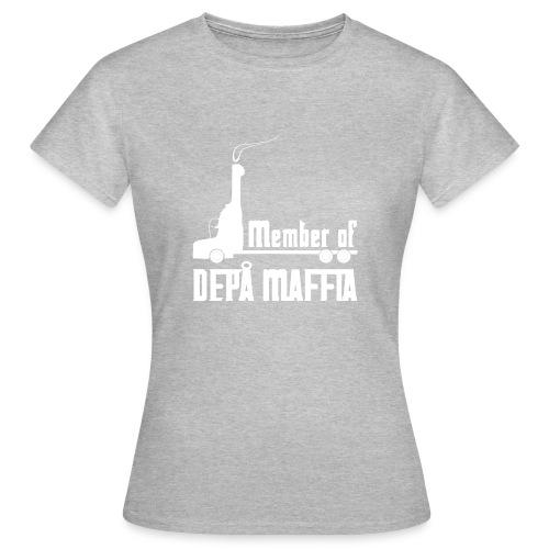 Depå Maffia vitt tryck - T-shirt dam