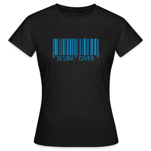 Barcode ScubaDiver - Frauen T-Shirt
