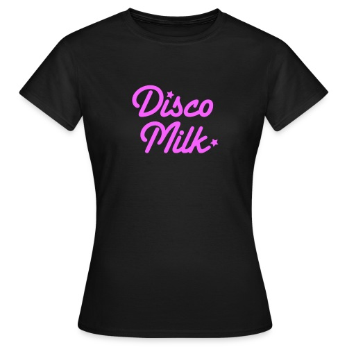 Disco Milk Logo_pink - Maglietta da donna