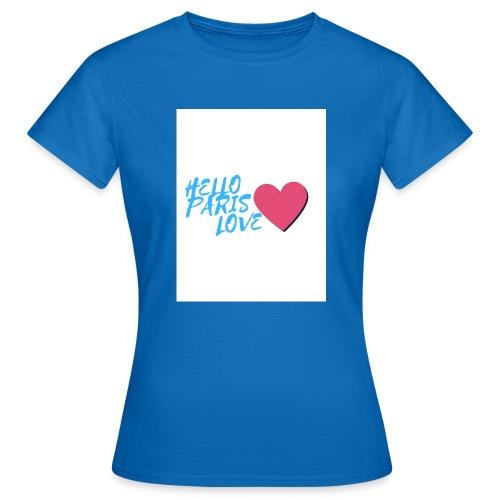 hello paris love bleu - T-shirt Femme