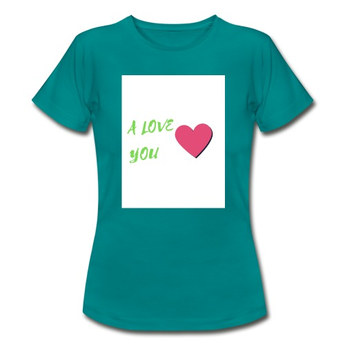 A LOVE YOU VERT - T-shirt Femme
