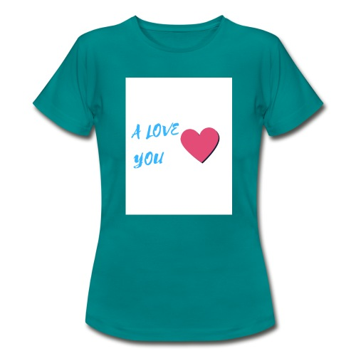 A LOVE YOU BLEU - T-shirt Femme