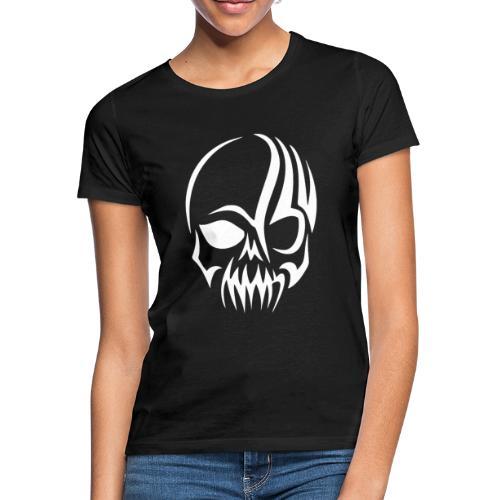 Tribal Skull white mit Logo - Frauen T-Shirt