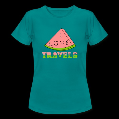 I LOVE TRAVELS FRUITS for life - Women's T-Shirt