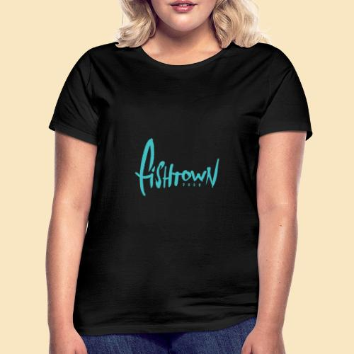 Fishtown 2850 handdrawn brightblue - Frauen T-Shirt