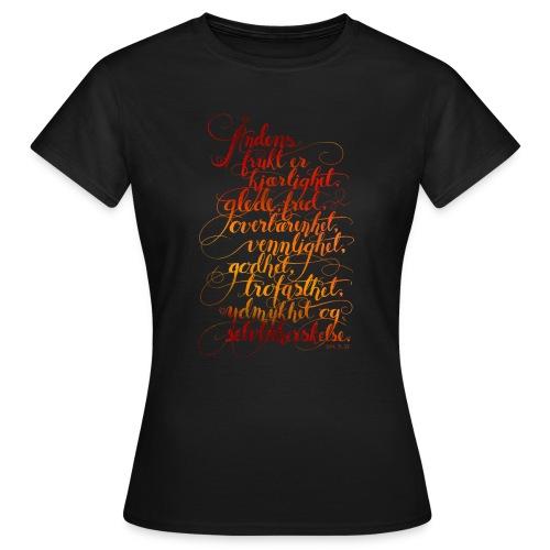 Åndens frukt - T-skjorte for kvinner