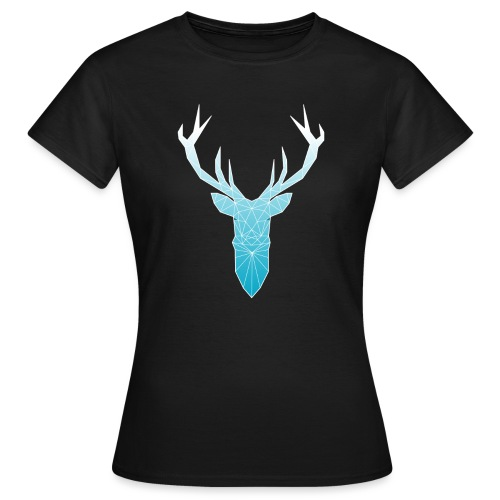 Hirschkopf mit Geweih - hellblau - Frauen T-Shirt