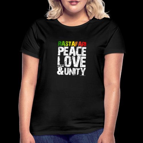 RASTAFARI - PEACE LOVE & UNITY - Frauen T-Shirt
