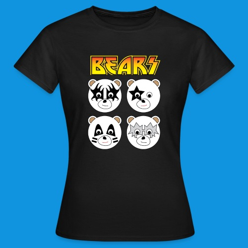 Kiss Bears square.png - Women's T-Shirt