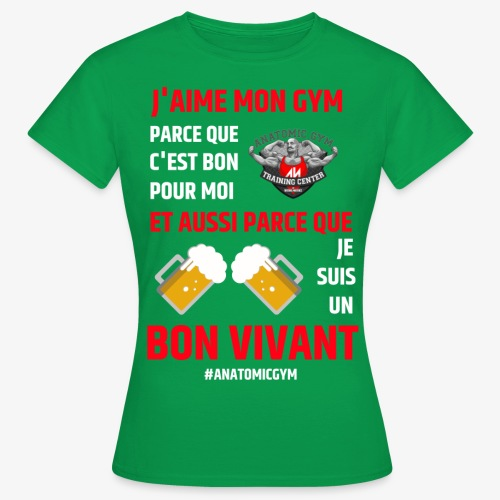 ANATOMIC GYM LIFESTYLE - T-shirt Femme
