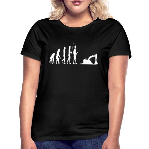 Evolotion des Baggers Arbeit Pilot Strassenbau - Frauen T-Shirt
