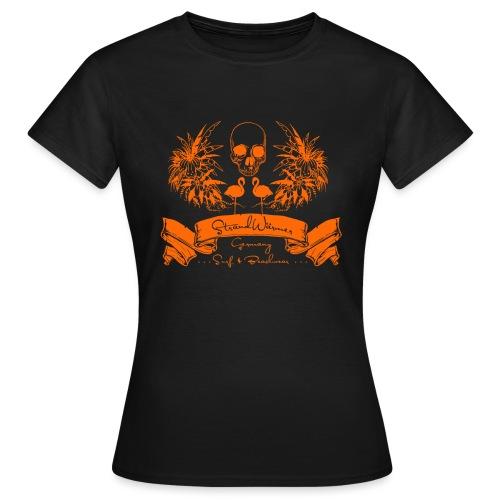 StrandWärmer_Piraten_Wappen_orange - Frauen T-Shirt