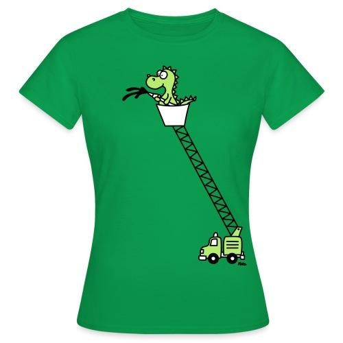 Feuerwehrauto mit Drache (c) - Frauen T-Shirt